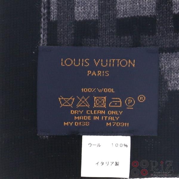 即日発送極上品現行プレゼントにオススメLOUIS VUITTONルイヴィトンエシャルプ・LVスプリット 服飾 マフラー スカーフ ネクタイ エシャルプ Gray グレー M70911 unused SEH9WID2