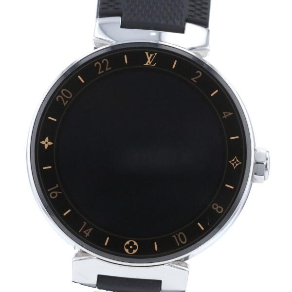 【即日発送】【美品】【中古】【廃番】 LOUIS VUITTON (ルイヴィトン) コネクテッド タンブール ホライゾン 時計 クオーツ/メンズ tambour QA003Z used:A