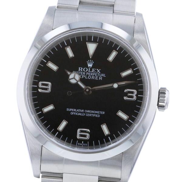 【4/6値下げ品】【中古】 ROLEX (ロレックス) エクスプローラー 時計 自動巻き/メンズ EXPLORER Black 14270 used:A