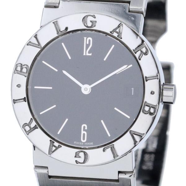 【中古】 BVLGARI (ブルガリ) ブルガリ ブルガリ 時計 クオーツ/ボーイズ Black BB30SSD used:A