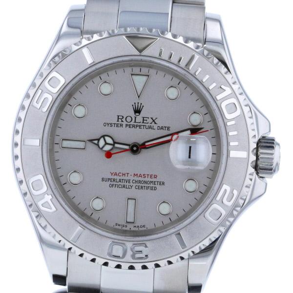 【中古】 ROLEX (ロレックス) ヨットマスター ロレジウム 時計 自動巻き/メンズ YACHT-MASTER Silver 16622 used:A