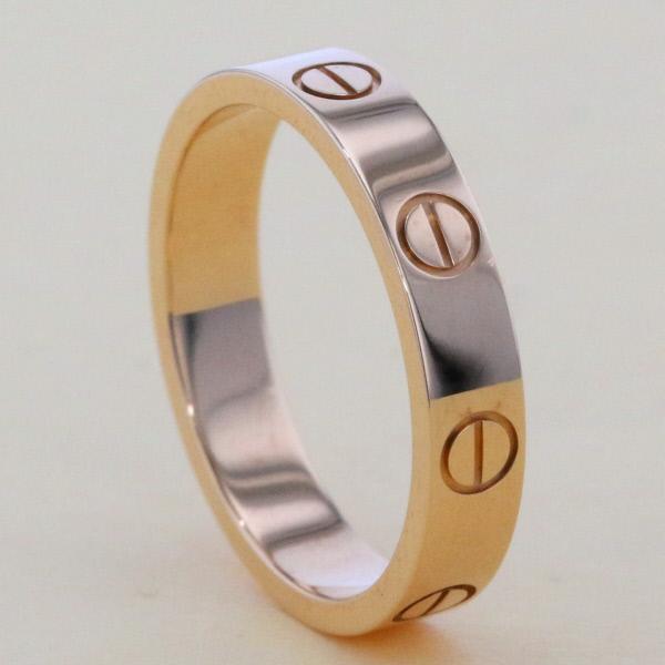 【中古】Cartier (カルティエ) ミニラブリング 750YG ブランドジュエリー 指輪  B4085000 used:A