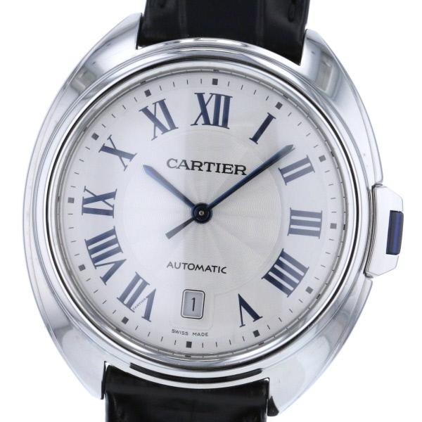 【即日発送】【中古】【現行】 Cartier (カルティエ) クレ ドゥ カルティエ 時計 自動巻き/メンズ CL・・ DE CARTIER/クレドゥカルティエ Silver/シルバー WSCL0018 used:B