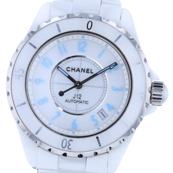 【即日発送】【中古】 CHANEL (シャネル) J12 ブルーライト 世界限定2000本 時計 自動巻き/メンズ J112 White/ホワイト H3827 used:B