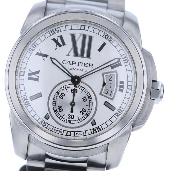 【中古】 Cartier (カルティエ) カリブル ドゥ カルティエ 時計 自動巻き/メンズ CALIBRE DE CARTIER White W7100015 used:A