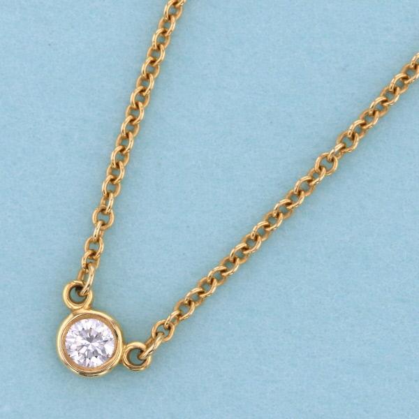 【中古】 Tiffany&Co. (ティファニー) バイザヤードダイヤネックレス 750YG ブランドジュエリー ネックレス/ペンダント/チョーカー バイザヤード