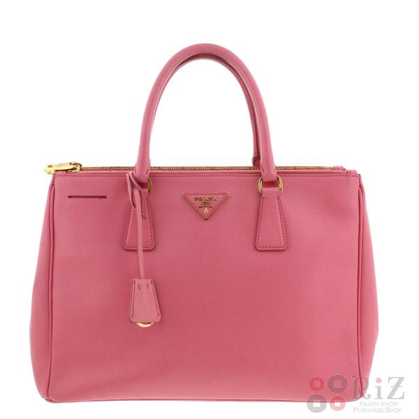 【中古】PRADA (プラダ) サフィアーノ 2WAYハンドバッグ バッグ ハンドバッグ Pink BN2274 used:B