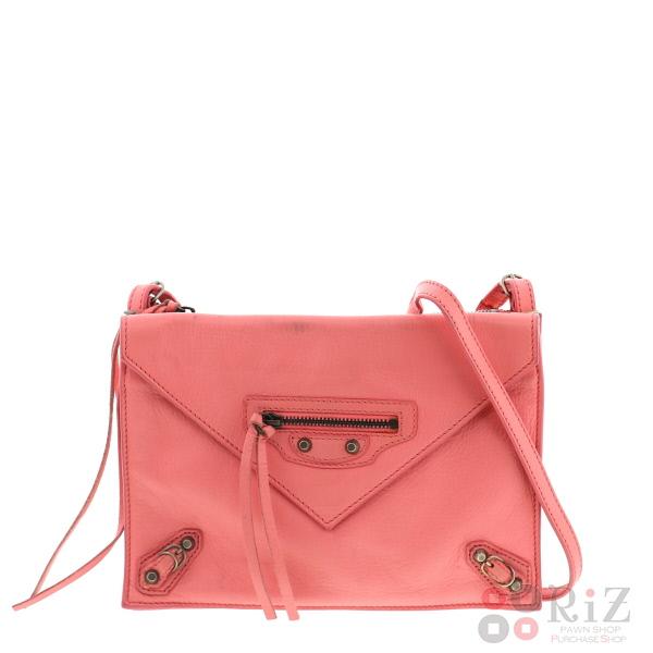 【中古】BALENCIAGA (バレンシアガ) パピエール ミニ トリプル バッグ ショルダー/メッセンジャーバッグ Pink 299482 used:B