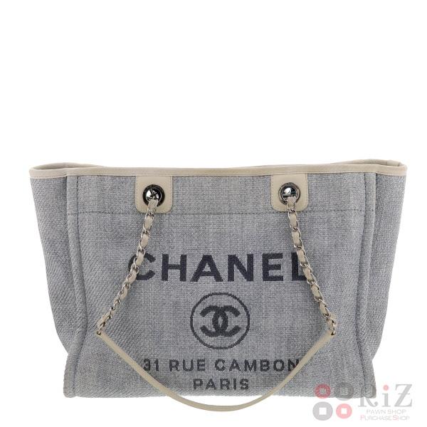 【中古】CHANEL (シャネル) ドーヴィル キャンバストートバッグ バッグ トートバッグ DEAUVILLE A67001 used:B