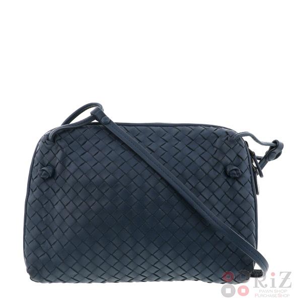 【中古】BOTTEGA VENETA (ボッテガヴェネタ) イントレチャート ショルダーバッグ バッグ ショルダー/メッセンジャーバッグ Blue used:A
