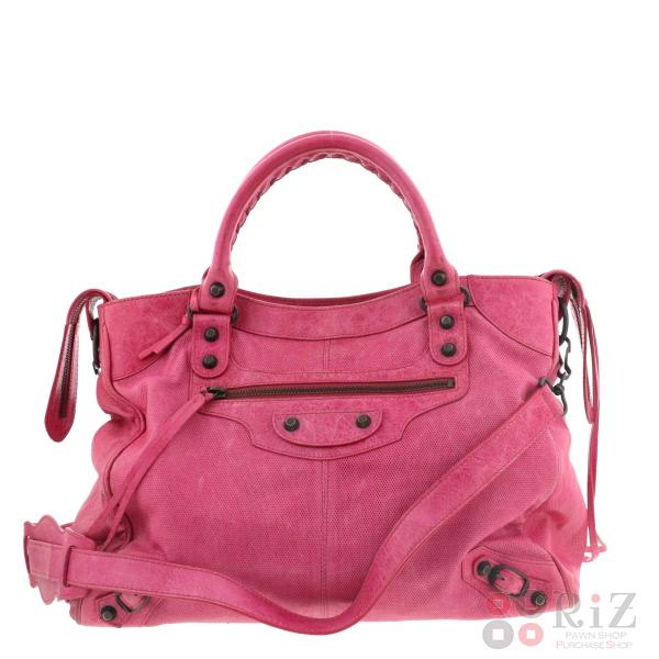 【中古】BALENCIAGA (バレンシアガ) ザ・ヴェロ バッグ ショルダー/メッセンジャーバッグ Pink 235216 used:B