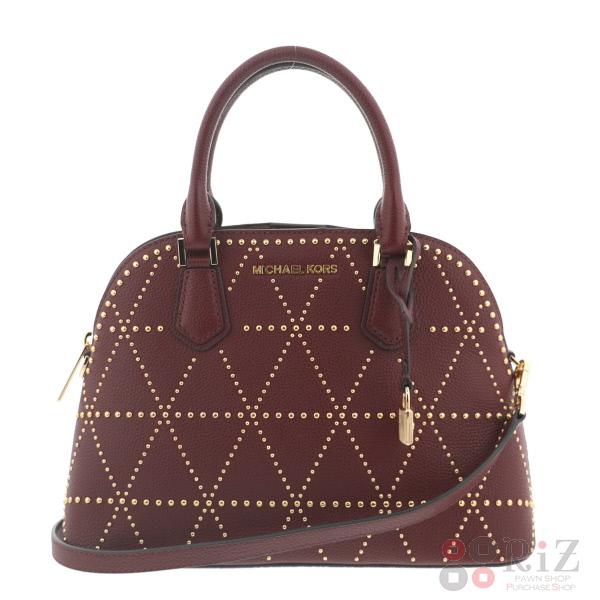【中古】 Michael Kors (マイケルコース) スタッズ 2WAY ショルダーバッグ バッグ ショルダー/メッセンジャーバッグ Shoulder Bag Red FREE used:A