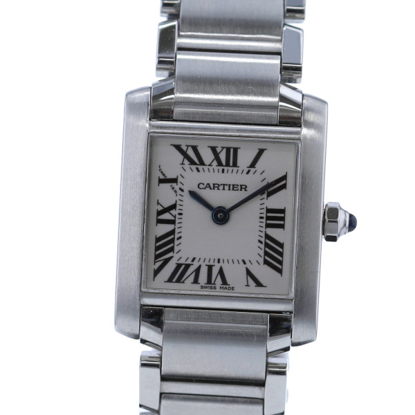 【中古】 Cartier (カルティエ) タンクフランセーズSM 時計 クオーツ/レディース Tank Francaise White W51008Q3 used:B