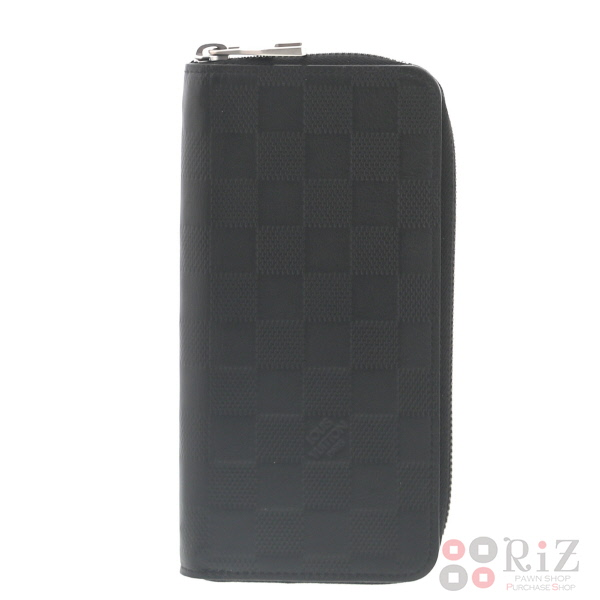【中古】 LOUIS VUITTON (ルイヴィトン) ポルトフォイユ・ヴァスコ 財布 長財布(小銭入有) Damier/Infini Black N63300 used:A
