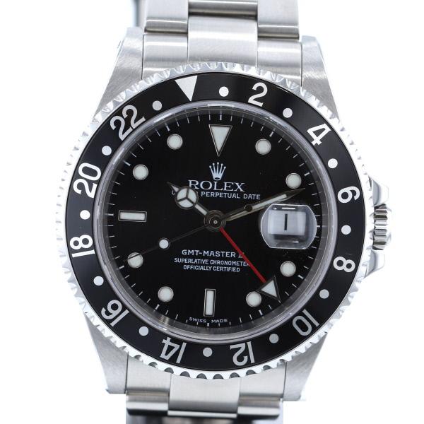 【新入荷商品】【即日発送】【美品】【中古】【廃番】【相場上昇中】 ROLEX (ロレックス) GMTマスター 時計 自動巻き/メンズ GMT-MASTER Black/ブラック 16710/BLACK used:A