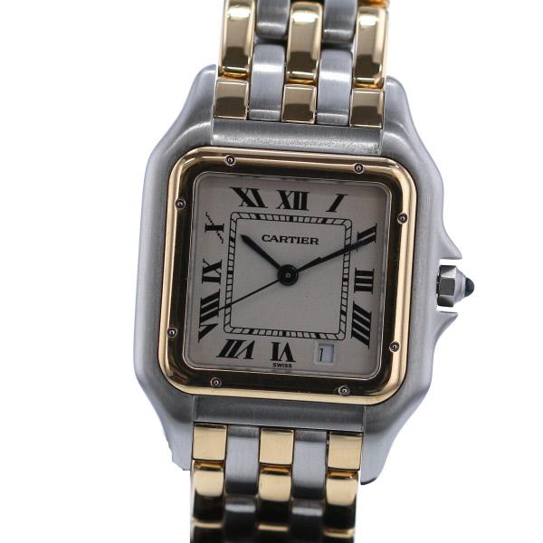 【新入荷商品】【即日発送】【美品】【中古】 Cartier (カルティエ) パンテールMM 3ロウ 時計 クオーツ/ボーイズ PANTHERE 3 ROW Ivory/アイボリー