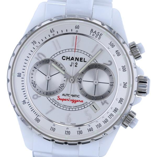 【SALE特価価格】【中古】 CHANEL (シャネル) J12 スーパーレッジェーラ 41 時計 自動巻き/メンズ White H3410 used:A