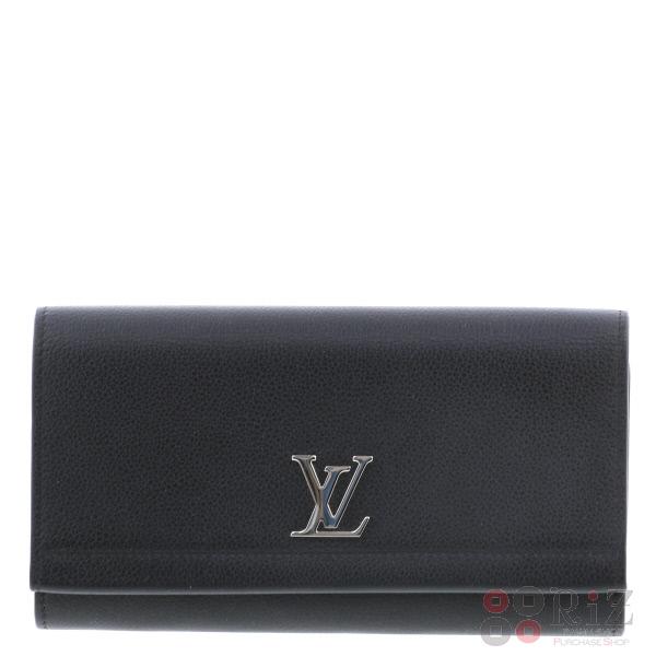 【美品】【付属品あり】【中古】LOUIS VUITTON (ルイヴィトン) ポルトフォイユ・ロックミー II 財布 長財布(小銭入有) Calf/Noir Black/ブラック M62329 used:A