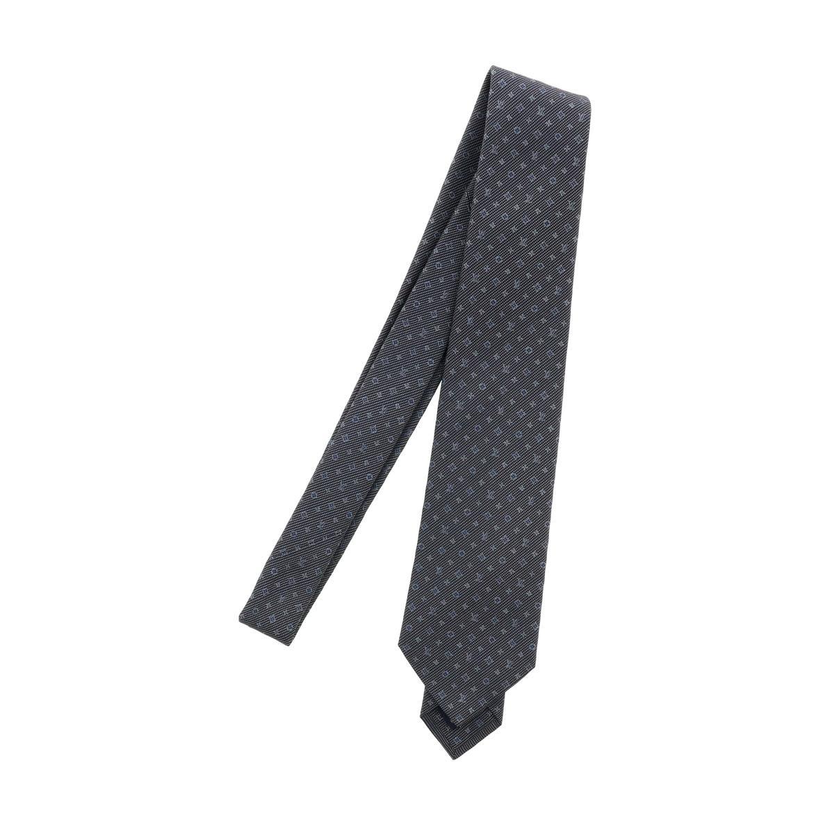 【中古】LOUIS VUITTON (ルイヴィトン) クラヴァット・モノグラム クラシック 8CM 服飾 マフラー/スカーフ/ネクタイ monogram Gray M70952 bnwt:N