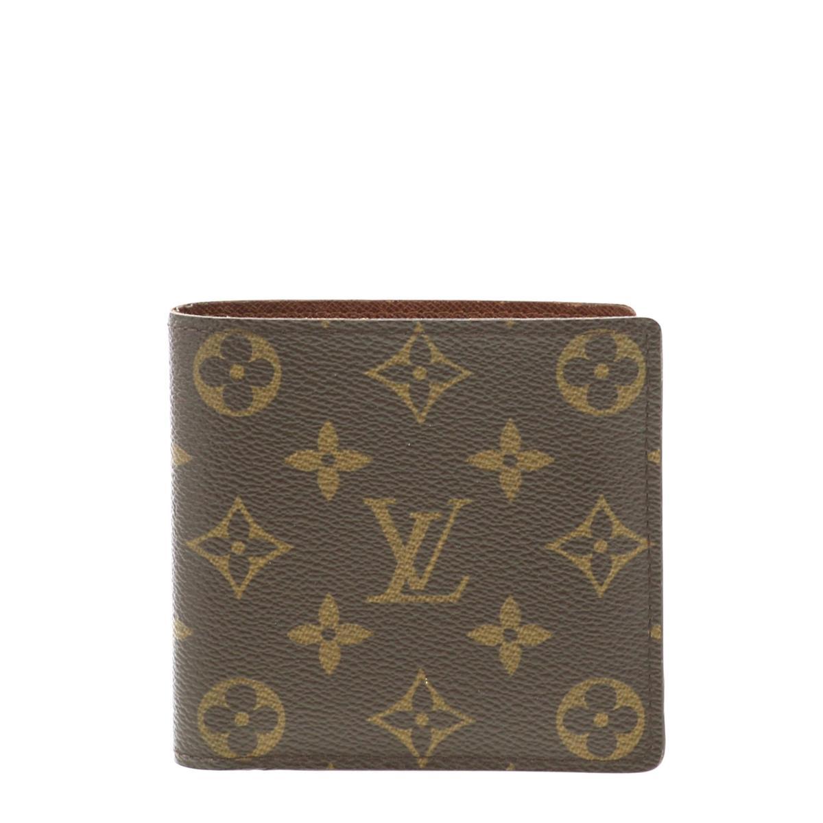 【中古】LOUIS VUITTON (ルイヴィトン) ポルトフォイユ・マルコ 財布 二つ折り財布(小銭入有) Monogram M61675 used:B