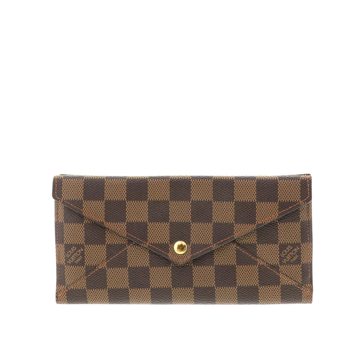 【中古】LOUIS VUITTON (ルイヴィトン) ポルトフォイユ・オリガミ ロン 財布 二つ折り財布(小銭入有) ダミエ/エベヌ N63097 used:A