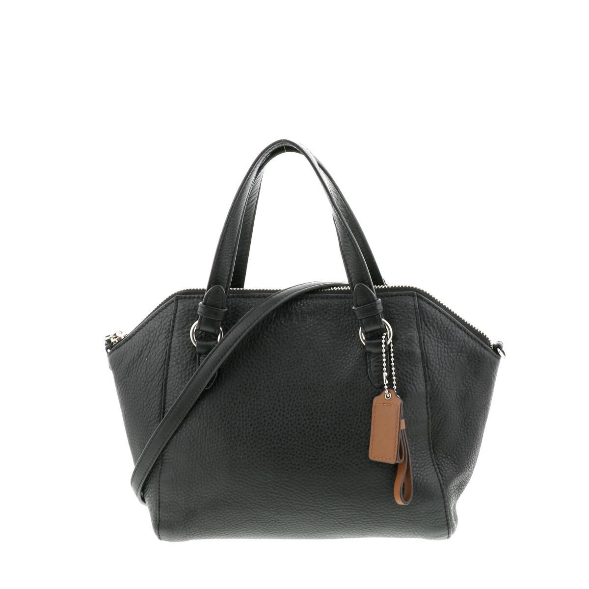 即日発送 ラッピング無料 COACH コーチ 驚きの値段で ハンドバッグ 保証 バッグ セカンドバッグ ボストンバッグ ブラック Black トートバッグ Handbag Two-Way 2WAY 中古