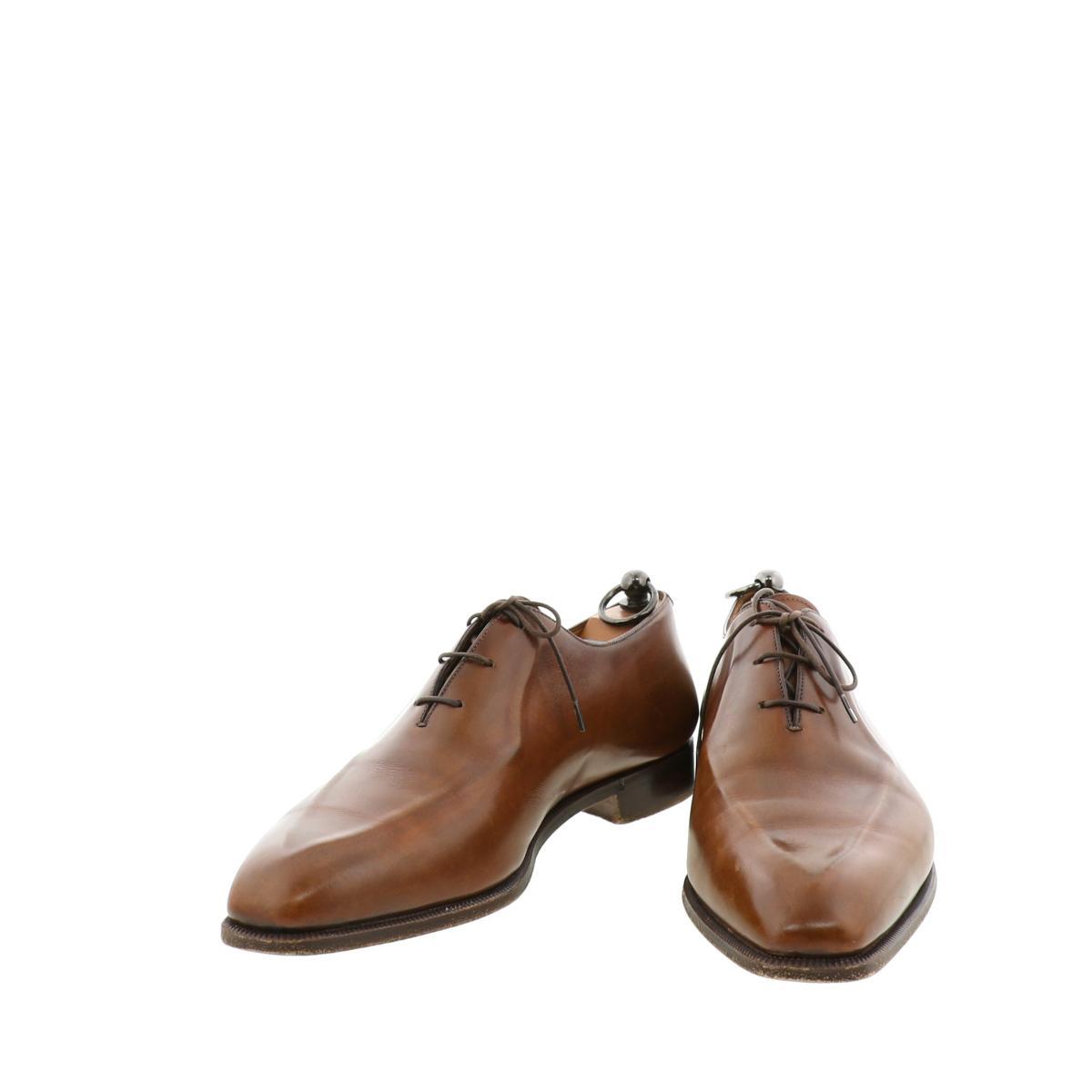 オリジナル 中古 Berluti ベルルッティ レースアップシューズ ビジネスシューズ 靴 ストア メンズ 28cm フォーマル スーツ ブラウン Brown used:B お値下げ品
