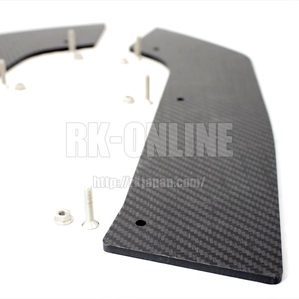 VERUS ENGINEERING(VELOX):A0085A:SUBARU WRX リアスパッツキット カーボンサーモプラスチック製 左右セット