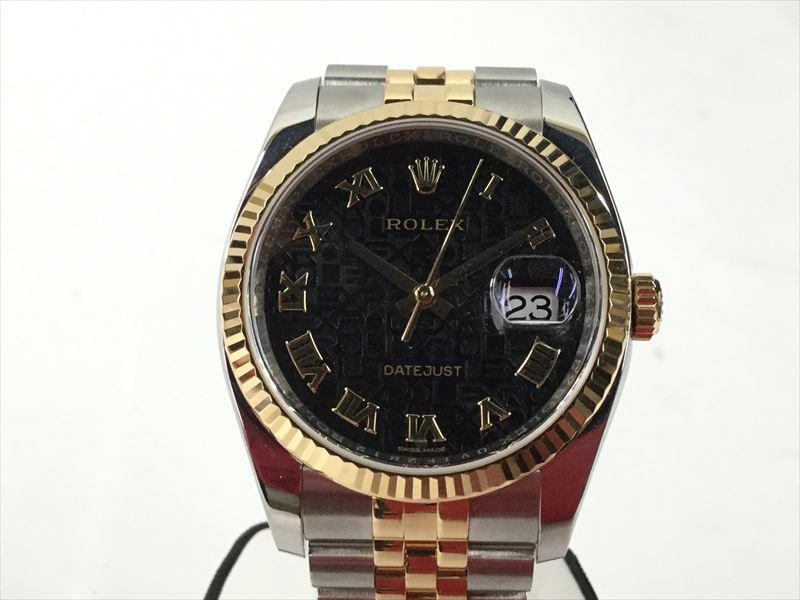 〇〇【中古】ロレックス ROLEX 腕時計 デイトジャスト 自動巻き ブラック 116233