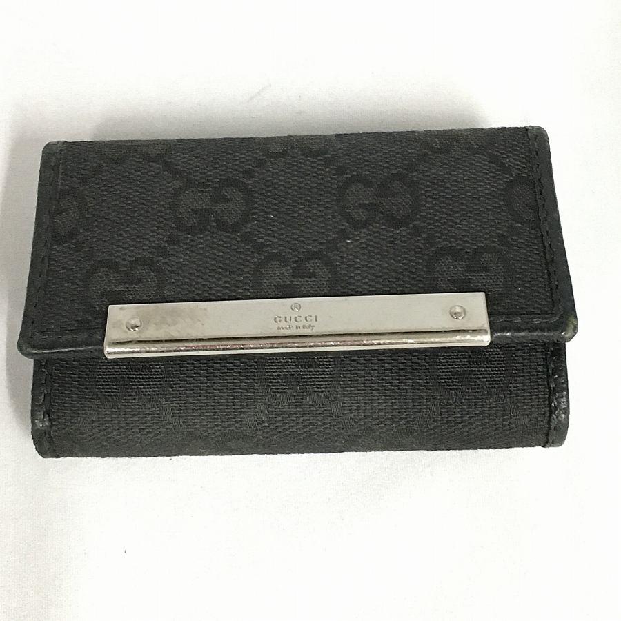 ▽▽【中古】GUCCI グッチ GGキャンバス ブラック 6連キーケース 127048