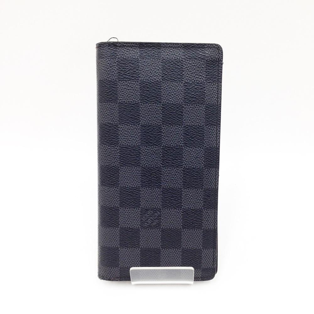 〇〇 中古 ルイヴィトン Louis Vuitton ダミエグラフィット 国際ブランド ブラック ブラザ ポルトフォイユ 高品質新品 長財布 N62665