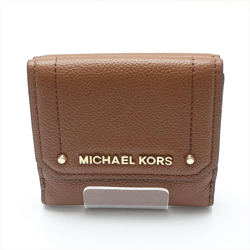 中古 マイケルコース 捧呈 MICHAEL 評判 KORS ブラウン 財布 二つ折り 35H8GYEF2L