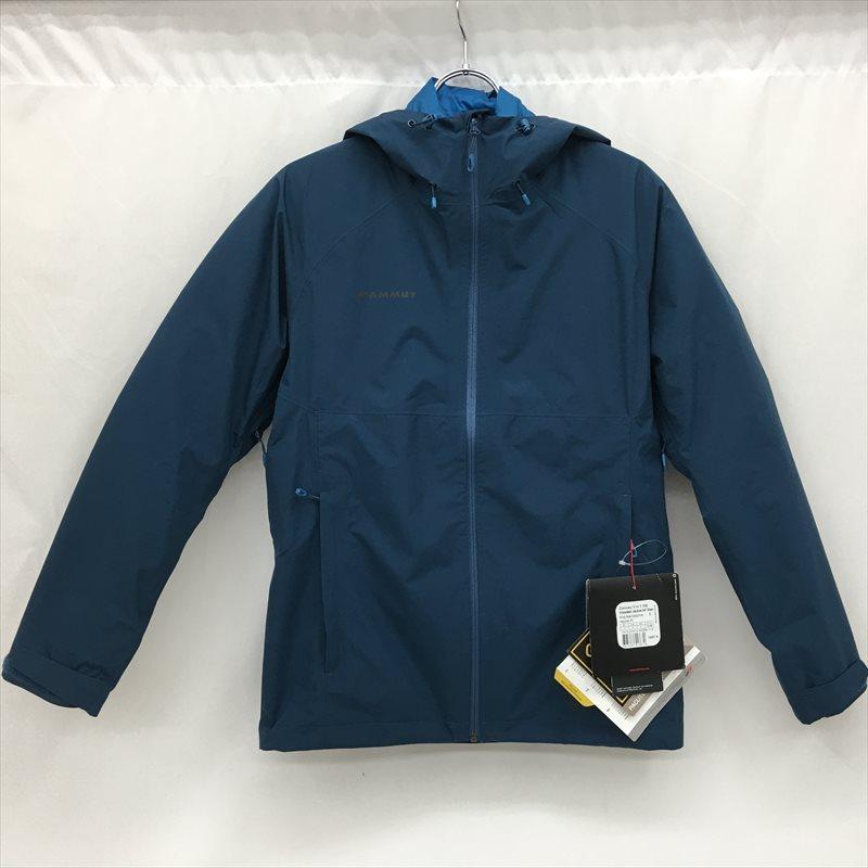 中古 極美品 国際ブランド MAMMUT マムート メンズ マウンテンパーカー Convery3in1HS Jacket 1010-27410 Hooded Sサイズ インディゴ タグ付き 信用