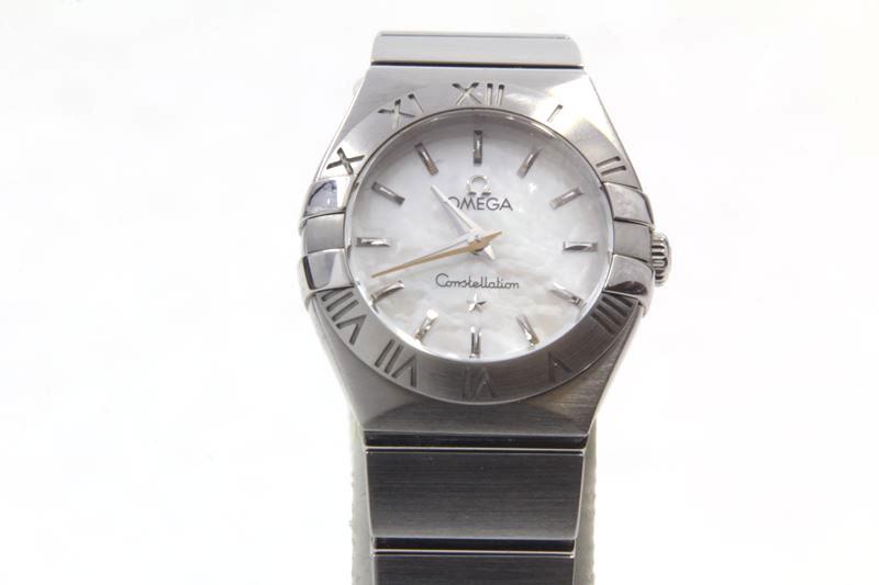 $$【中古】オメガ OMEGA レディスクオーツ腕時計 コンステレーション 123.10.24 美品