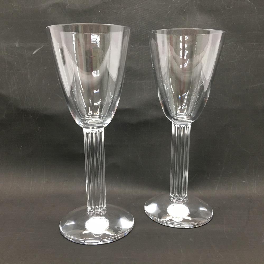 中古 Baccarat 新品未使用正規品 バカラ ワイングラス リラ 2Pセット 新作販売 ウォーターゴブレット Bランク