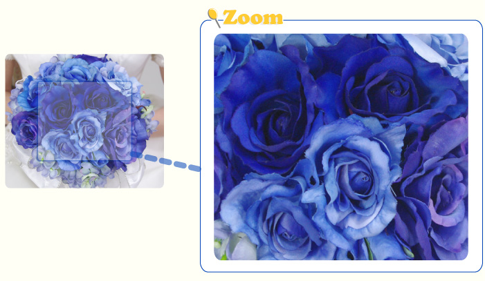 In addition to the accent blue roses and hydrangeas. Guests can enjoy a blue  gradient. In according to the flower Ribbon a57a621eaa4