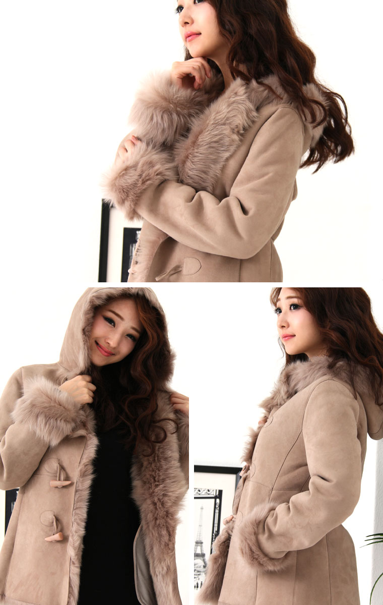 Shearling coats popular products ★ Duffle Shearling coat women's fur ( half )