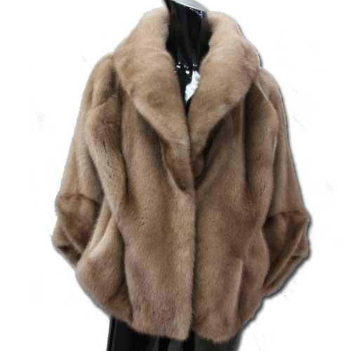 【OFF Price】ラグラン袖3フック ミンクジャケット ミンクコート ファーコート レディース 毛皮コート