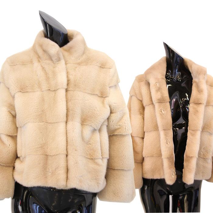 【OFF Price】 パロミロカラー ミンクジャケット ミンクコート 毛皮コート ミンク ファーコート レディース