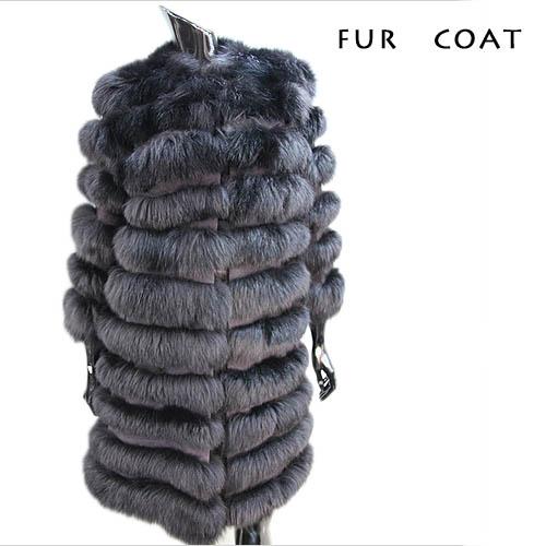 【Off Price】フォックス×スウェード 7分袖コート 毛皮コート ファーコート レディース