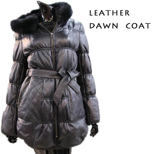 【OFF Price】フォックストリミング フード付き ダウンコート レディース レザーコート ladies leather coat ウィメンズ
