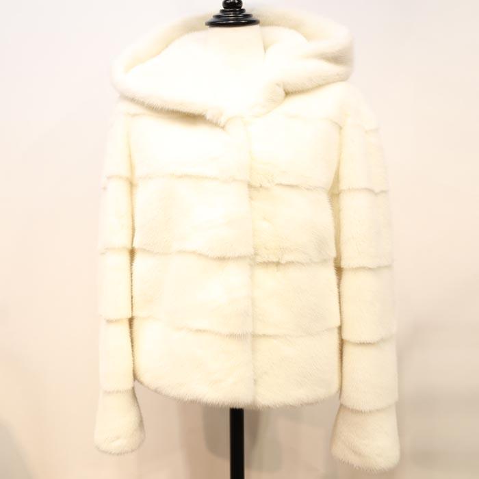 ミンク ショートジャケットコート ミンクコート 毛皮コート ファーコート レディース