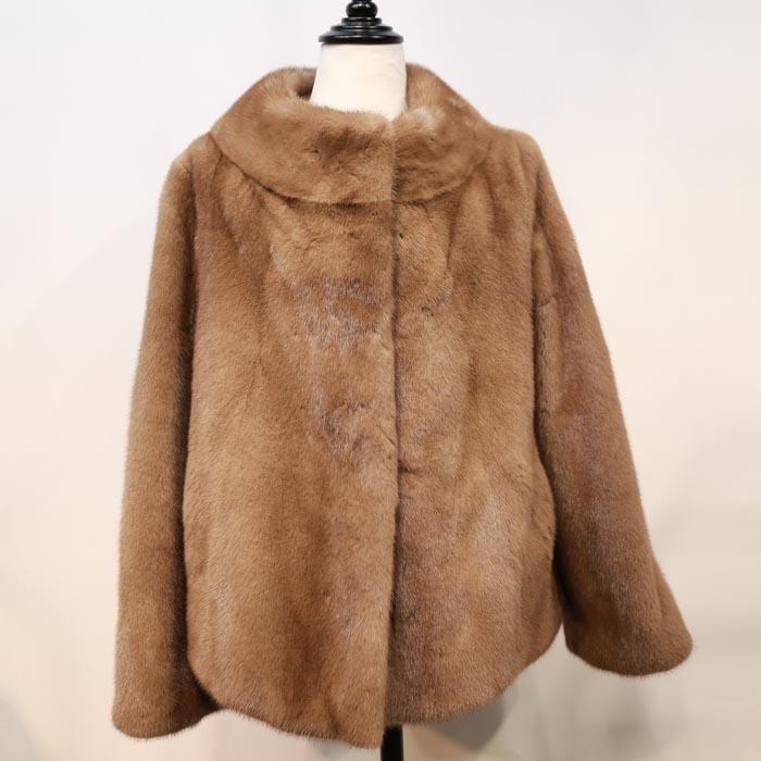 ミンク ショートジャケットコート 毛皮コート ミンクコート ファーコート レディース