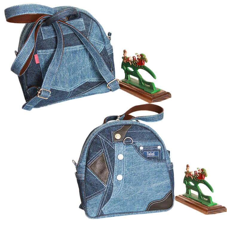 Original remake denim bag backpack (backpacking)