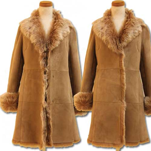 3 Hook long Sheepskin coat ladies collar design is very rich! Colors are rich, so Lady wearing a Shearling coat of choice and enjoy a stylish winter ♪ fur Shearling / riders jacket coat, Shearling coat