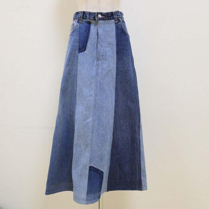 オリジナル デニムスカート (ゆったりサイズ)13