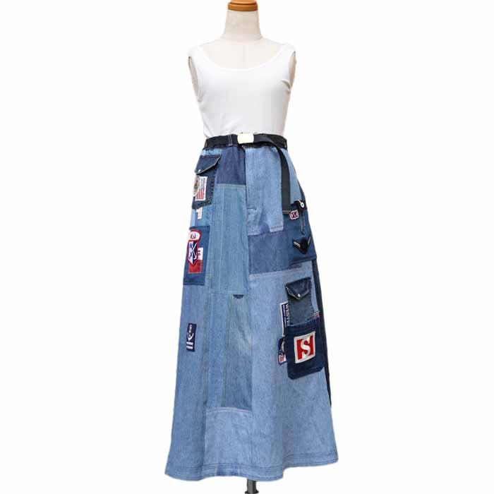 オリジナル フリースタイル デニムスカート(デニムシャツ)56