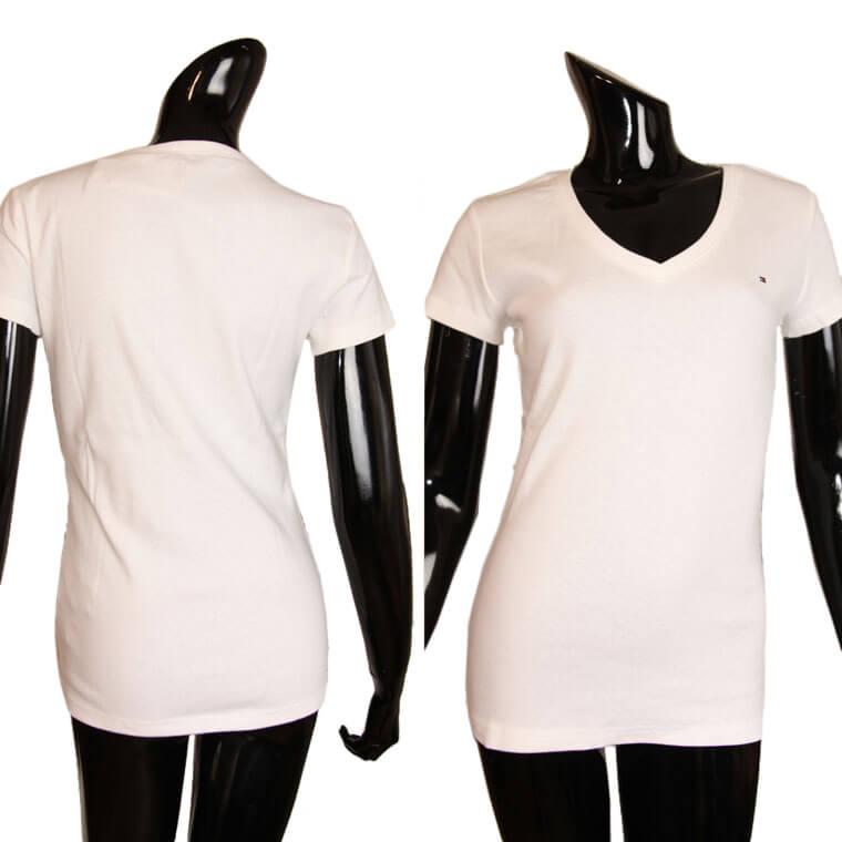 5da88b536b5bc TOMMY HILFIGER Tommy Hilfiger tip V neck short sleeve T shirt