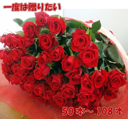 50本以上お好きな本数で追加購入OK還暦60本の薔薇の花束 100本バラも配達日指定可能お誕生日 歓送迎会門出に贈る花束プロポーズ108本も バラ50本花束 お祝 誕生日 歓送迎会 結婚式 還暦祝 60本 激安 深紅 赤いばら 100本 プレゼント プロポーズ108本 薔薇 サプライズ 生花 格安SALEスタート ロングサイズ50cm