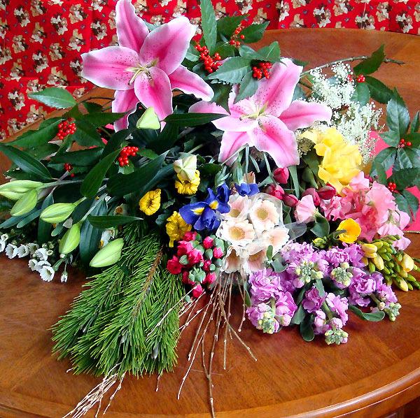 お正月 生花 花いっぱ~い♪歳末 切花 福袋 お歳暮 ギフト 自宅用 贈り物 年越し特集2020